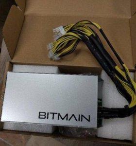 В наличии блок питания Bitmain для S9, L3+, D3