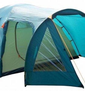 Палатка четырехместная двухслойная с тамбуром