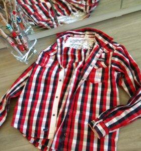 Подростковая рубашка уни-сэкс (мальчики,девочки)