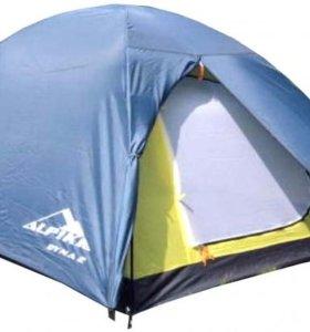 Палатка трехместная двухслойная с тамбуром