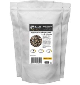 Кофе 1кг «Бразильский средний» в зернах