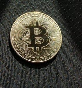 "Сувенир ""Bitcoin""физический ""аналог""криптовалюты."