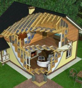 Строитнльство домов,заборов,бань,хозблоков.