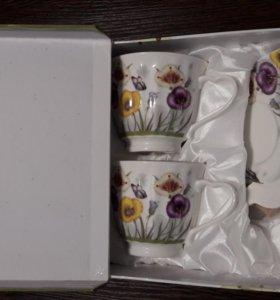 Чайный набор. 4 предмета. Фарфор.