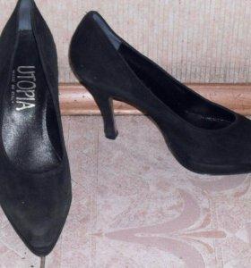 Туфли замшевые итальянские новые итальянские