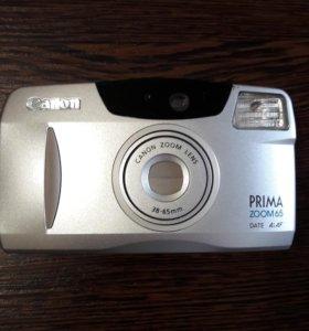 Фотоаппарат CANON PRIMA ZOOM 65 пленочный.