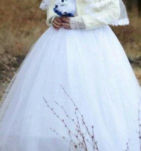 Свадебное платье.Размер 50-54 карсет.