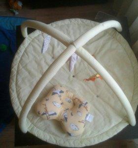 Игровой коврик для малыша + ортоподушка + круг д/п
