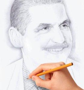 Красивые портреты карандашом по фото
