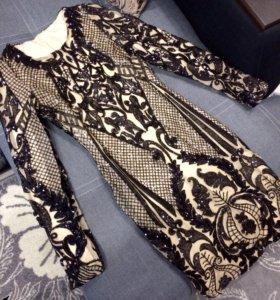Новогоднее платье в паетках