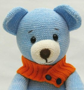Плюшевый медведь. Вязаная мягкая игрушка