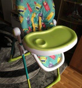 Стульчик для кормления HappyBaby Goodie Aquamarine