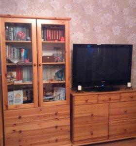 Шкаф книжный и комод из сосны
