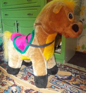 Детская лошадь качалка