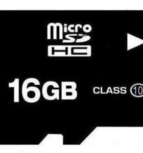Микро карта 16 gb ,(+две на 4 )