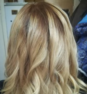Окрашивание волос любой сложности.