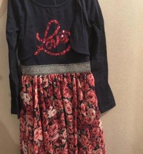 Очаровательное нарядное платье для девочки!