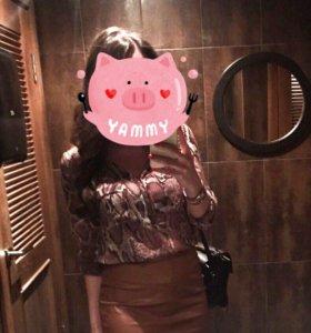Блуза Zara принт питон