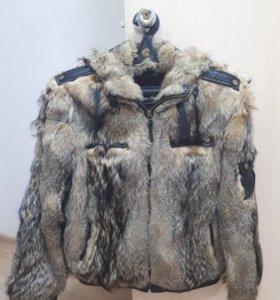 Мужская меховая куртка-дубленка зимняя