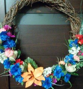 Декор-панно из цветов и ягод. Отличный подарок!
