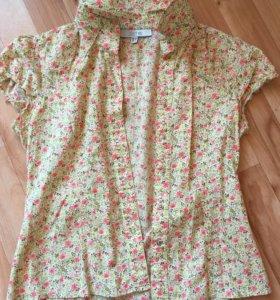 Рубашка-блузка ,короткий рукав.