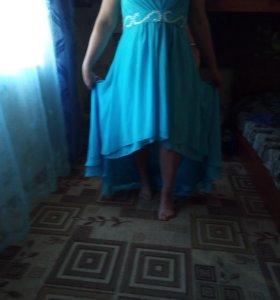 Вечернее,платье со шлейфом.