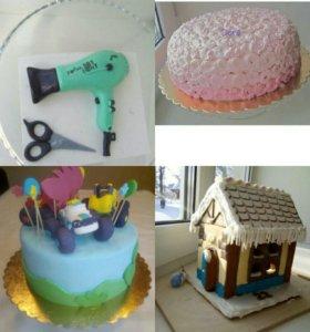 Торты на заказ, Фигурки на торт из мастики. На тор