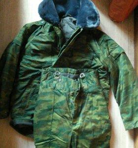 Зимний военный бушлат костюм