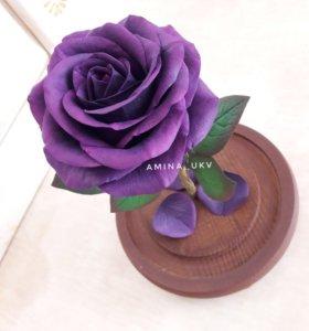 Цветы из гофрированной бумаги и фоамирана