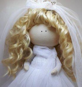 Интерьерная кукла из ткани. НЕВЕСТА.