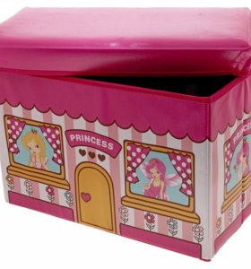 Короб-пуф для хранения игрушек, 48х28х30 см