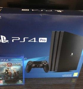 Новые Sony Playstation 4 PRO + God of War