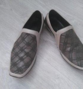 Мужские летние туфли. Натуральная кожа.