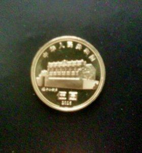 Юбилейные 5 юаней, Китай.