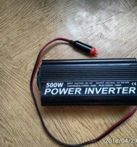 Инвертор автомобильный 12/220в (500Вт)