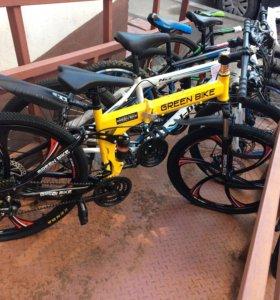 Складной скоростной велосипед, на литых дисках