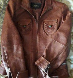 Кожаная куртка -ветровка