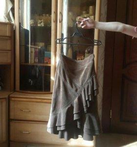 Костюм с юбкой вельвет 44 размер