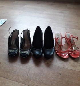 Обувь 3 пары размер 37