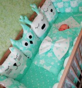 Бортики в кроватку. одеяло