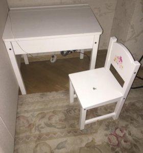 Ikea хенсвик комплект стол стул детская мебель