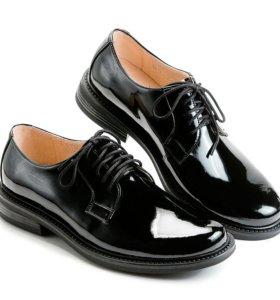 Туфли военные лакированные