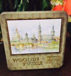 Продам пазл 1000 шт новый Wooden puzzle