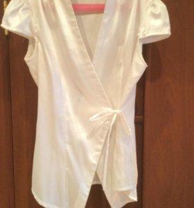 Блузка белая с запахом