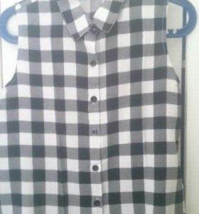 Блуза\жилетка в клеточку на лето