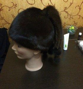 Норковая шапка в отличном состоянии