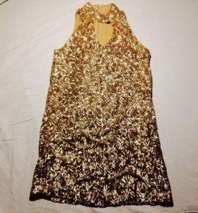 Золотое платье mango