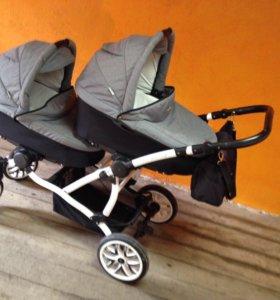 Детская коляска для двойни 2 в 1 Bebetto-42