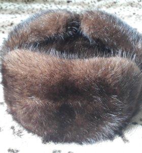 Новая норковая шапка-ушанка