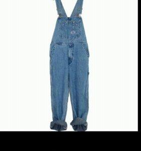 Комбинезон джинсовый для взрослых